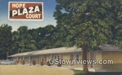 Hope Plaza Court - Arkansas AR Postcard
