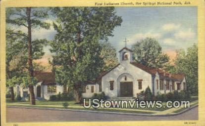 First Lutheran Church - Hot Springs National Park, Arkansas AR Postcard