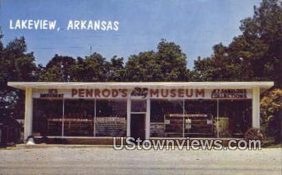 Penrod's Hobby Museum - Lakeview, Arkansas AR Postcard