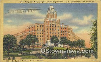 New Army & Nacy Hospital - Hot Springs National Park, Arkansas AR Postcard