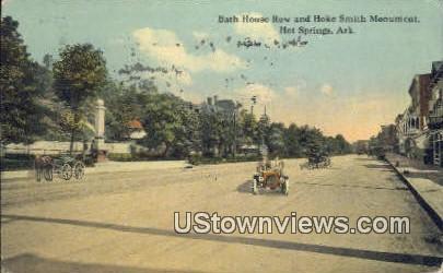 Bath House Row, Hoke Smtih Monument - Hot Springs, Arkansas AR Postcard