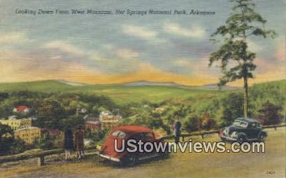 West Mountain - Hot Springs National Park, Arkansas AR Postcard