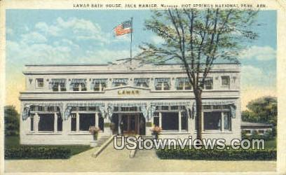 Lamar Bath House - Hot Springs National Park, Arkansas AR Postcard