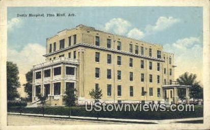 Davis Hospital - Pine Bluff, Arkansas AR Postcard
