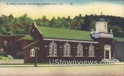 St Mary's Church - Hot Springs National Park, Arkansas AR Postcard