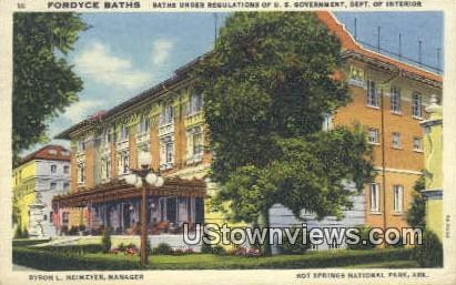 Fordyce Baths, Byron L Neimeyer - Hot Springs National Park, Arkansas AR Postcard