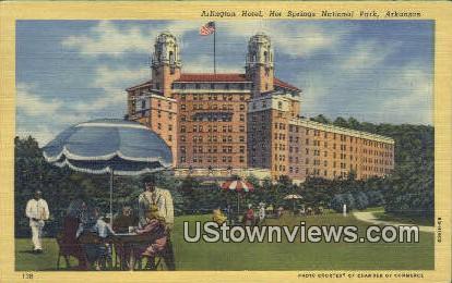 Arlington Hotel - Hot Springs National Park, Arkansas AR Postcard