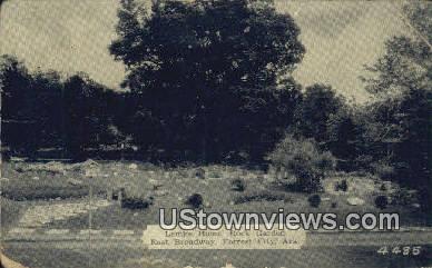 Lemke Home, Rock Garden - Forrest City, Arkansas AR Postcard