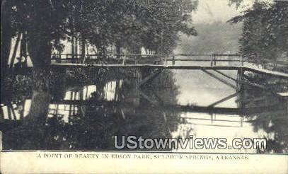 Edson Park - Sulphur Springs, Arkansas AR Postcard