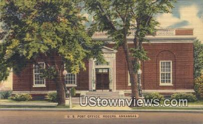 US Post Office - Rogers, Arkansas AR Postcard