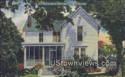 Bob Burns' home - Van Buren, Arkansas AR Postcard