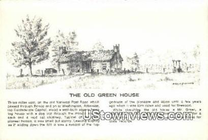Old Green house - Washington, Arkansas AR Postcard