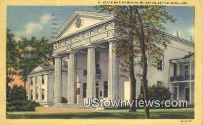 State War Memorial Bldg - Little Rock, Arkansas AR Postcard