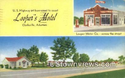 Loopher's Motel - Clarksville, Arkansas AR Postcard