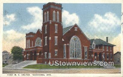 First ME Church - Texarkana, Arkansas AR Postcard