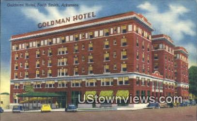 Goldman Hotel - Fort Smith, Arkansas AR Postcard