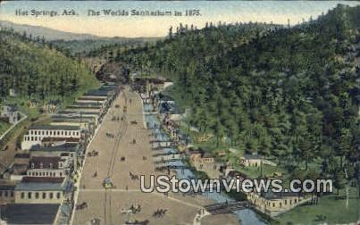 World's Sanitarium 1875 - Hot Springs, Arkansas AR Postcard