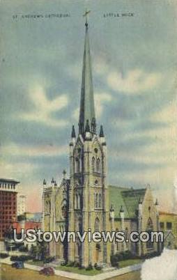 St Andrew's Cathedral - Little Rock, Arkansas AR Postcard