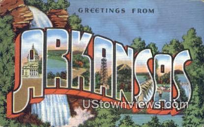 Greetings from Arkansas Postcard