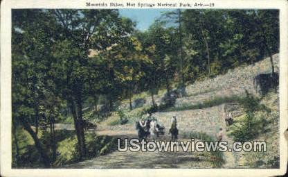 Mountain Drive - Hot Springs National Park, Arkansas AR Postcard