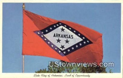 State Flag, Arkansas,    ;    State Flag, AR, Postcard