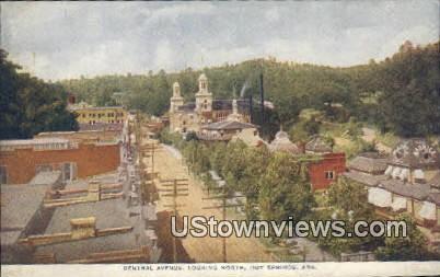 Central Ave - Hot Springs, Arkansas AR Postcard