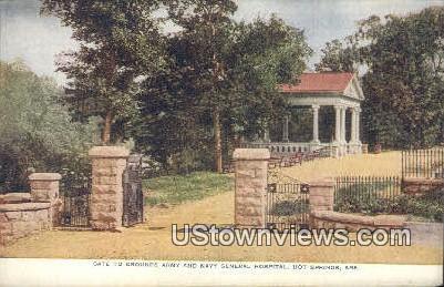 Gate, Army & Navy General Hospital - Hot Springs, Arkansas AR Postcard