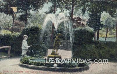 Ostrich Farm - Hot Springs, Arkansas AR Postcard