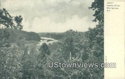 Auchita River - Hot Springs, Arkansas AR Postcard