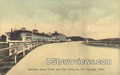 Oaklawn Race Track & Fair Grounds - Hot Springs, Arkansas AR Postcard