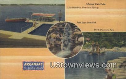 Arkansas State Park, Petit Jean State Park - Lake Hamilton Postcard