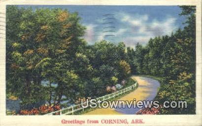 Corning, Ark,    ;    Corning, Arkansas Postcard
