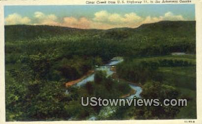 Clear Creek - Arkansas Ozarks Postcards, Arkansas AR Postcard