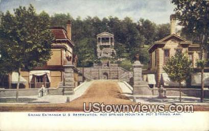 Grand Entrance US Reservation - Hot Springs, Arkansas AR Postcard