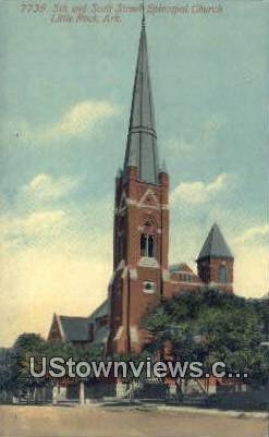 5th & Scott Street Episcopal Church - Little Rock, Arkansas AR Postcard