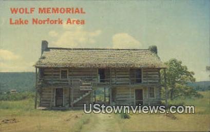 Wold Memorial - Lake Norfork, Arkansas AR Postcard