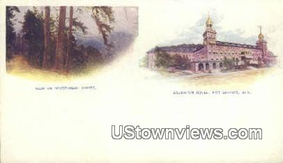 Government Drives, Arlington Hotel - Hot Springs, Arkansas AR Postcard