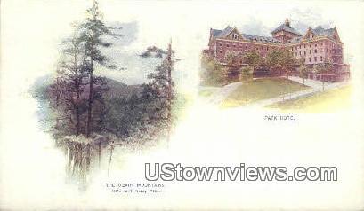 Ozark Mountains, Park Hotel - Hot Springs, Arkansas AR Postcard