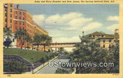 Army & Navy Hospital & New Annex - Hot Springs National Park, Arkansas AR Postcard