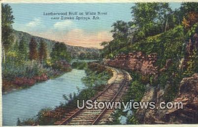 Leatherwood Bluff, White River - Eureka Springs, Arkansas AR Postcard