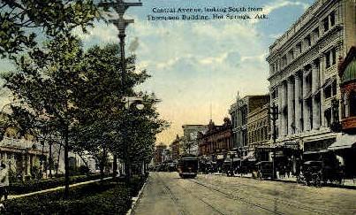 Central Ave. - Hot Springs, Arkansas AR Postcard