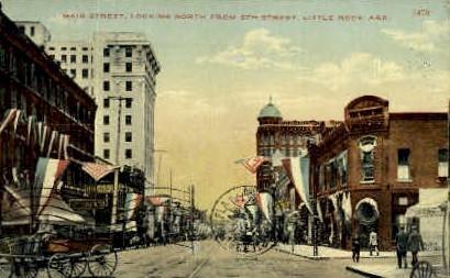 Main St. - Little Rock, Arkansas AR Postcard