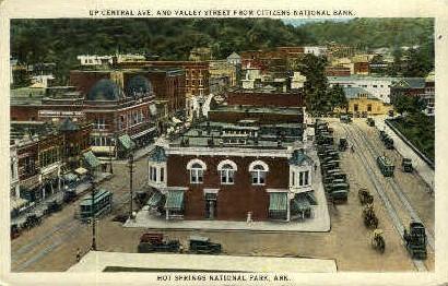 Central Ave. National Bank - Hot Springs, Arkansas AR Postcard