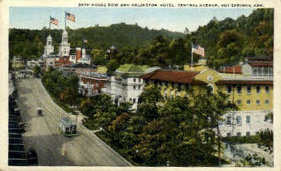 Bath House Row - Hot Springs, Arkansas AR Postcard