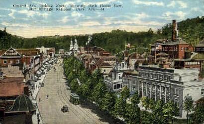 Central Ave. - Hot Springs National Park, Arkansas AR Postcard