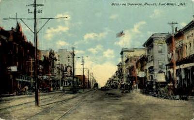 Garrison Ave. - Fort Smith, Arkansas AR Postcard