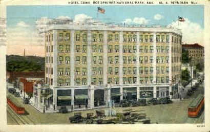 Hotel Como - Hot Springs, Arkansas AR Postcard