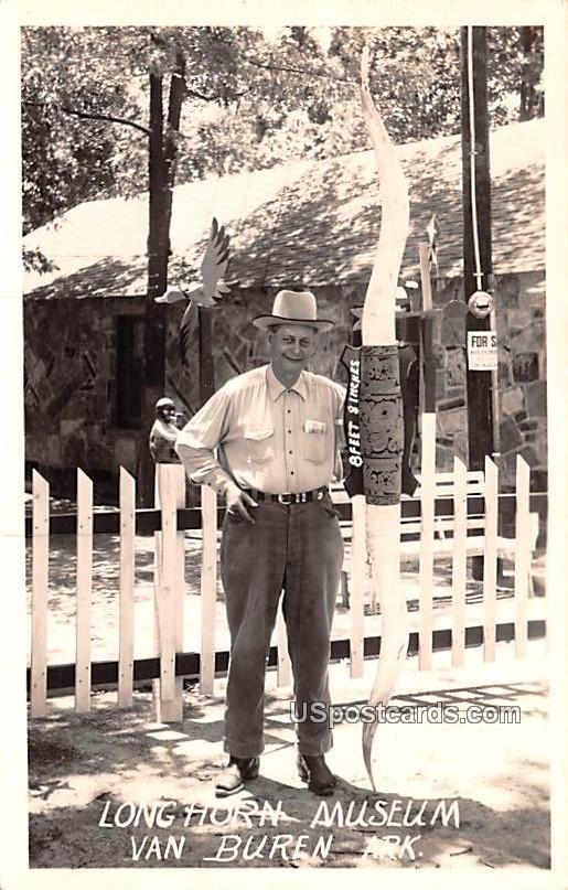 Long Horn Museum - Van Buren, Arkansas AR Postcard
