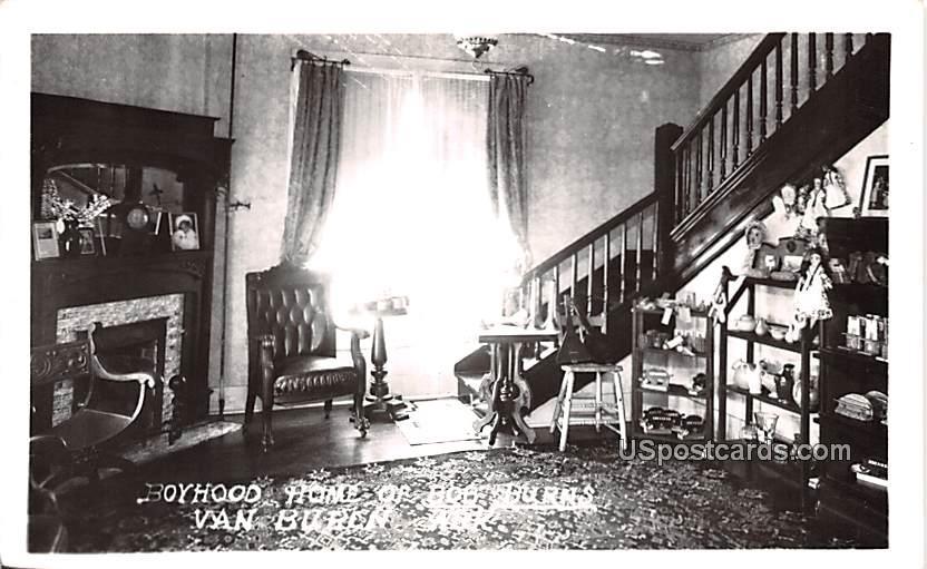 Boyhood Home of Bob Burns - Van Buren, Arkansas AR Postcard
