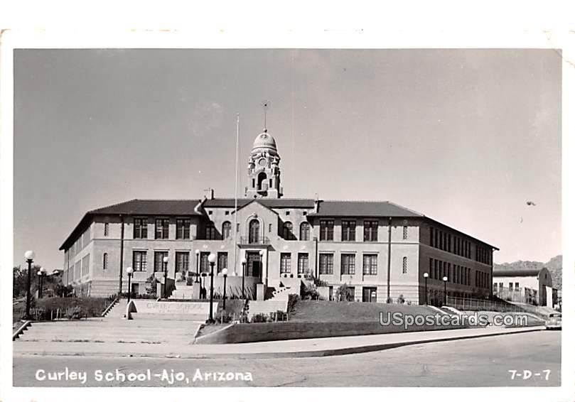 Curley School - Ajo, Arizona AZ Postcard